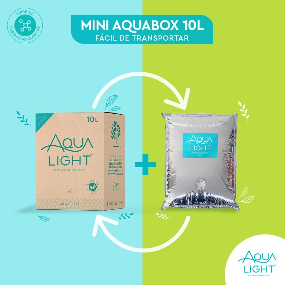 ¡Nuevo! Caja de agua Purificada y Ozonizada de 10 litros - EcoFriendly